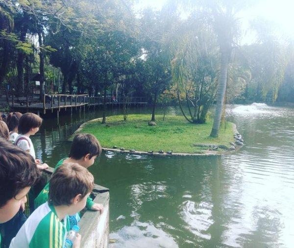Saída de estudo com os alunos do 2º ano no Parque Florestal Córrego Grande.