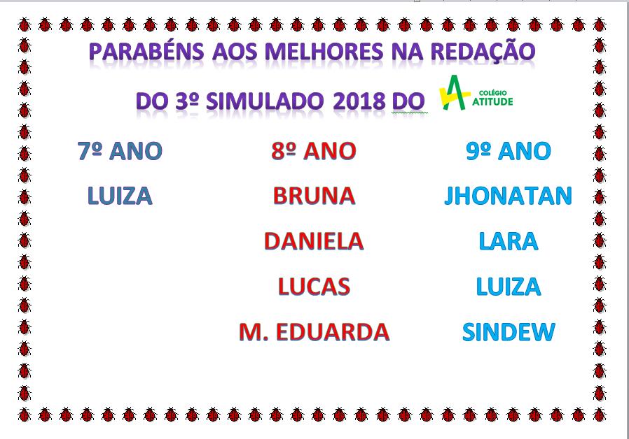 3º Simulado 2018
